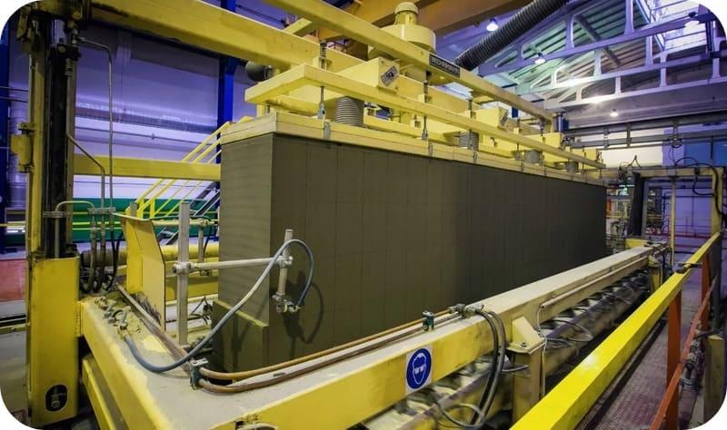 Производство цементных газоблоков