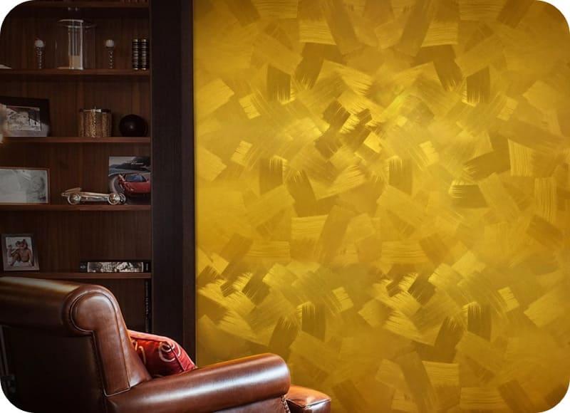 Окрашивание стен в дизайнерском исполнении