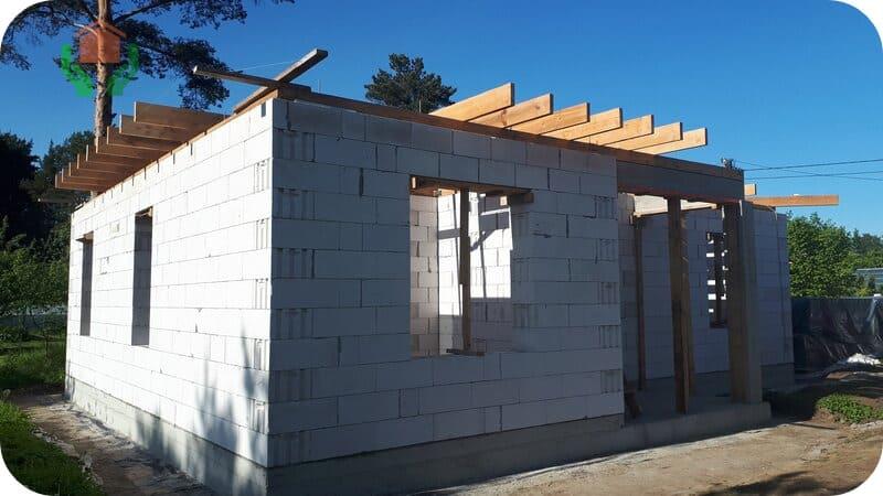 Идеальная геометрия стен строящегося дома