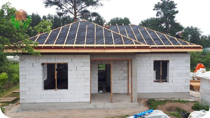Газоблочный одноэтажный дом
