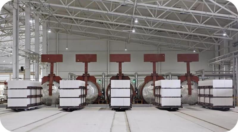 Газоблоки остывают после тепловой обработки в автоклавах