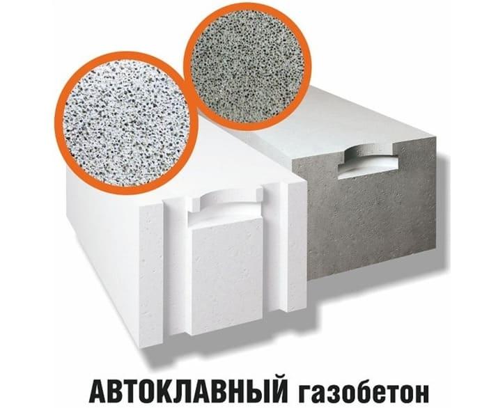 Цвет газобетона определяет основное вяжущее (цемент или известь)