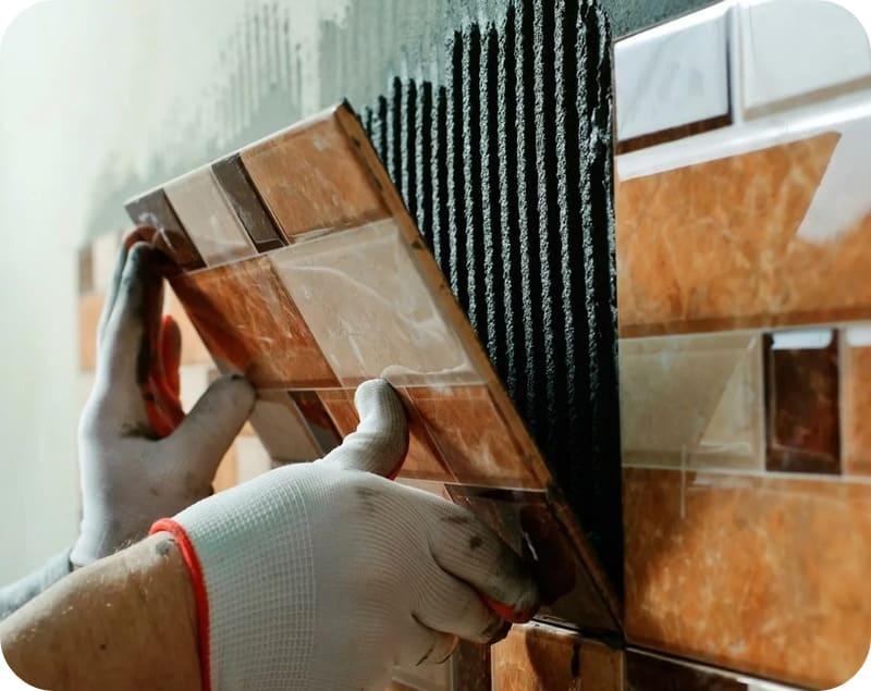 Монтаж керамики по штукатурному слою