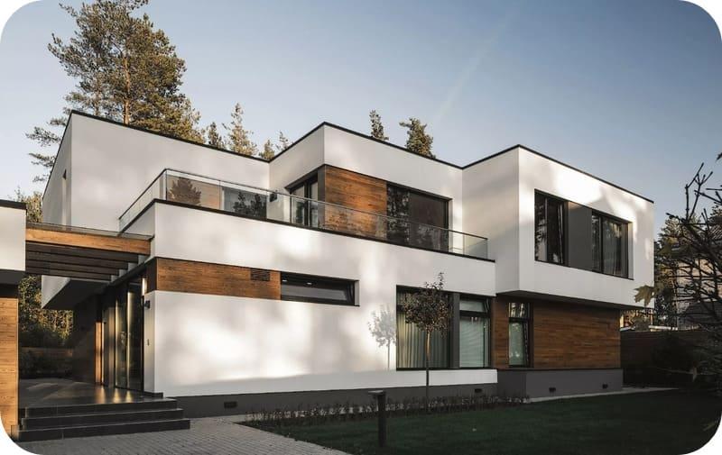 Дом, спроектированный в современном стиле