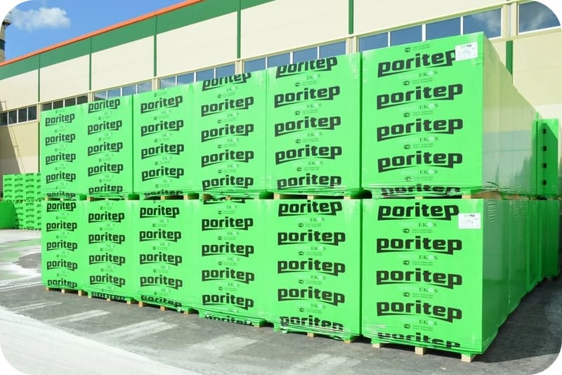 Блоки Поритеп на заводском складе