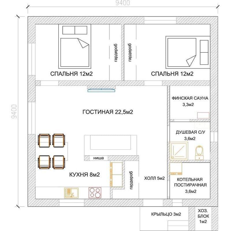 Планировка дома Superjet