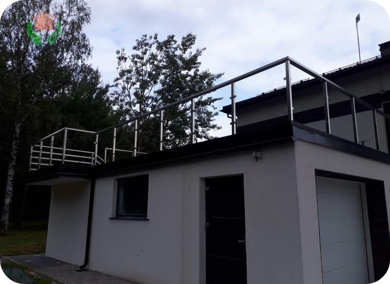 Терраса на гаражной крыше
