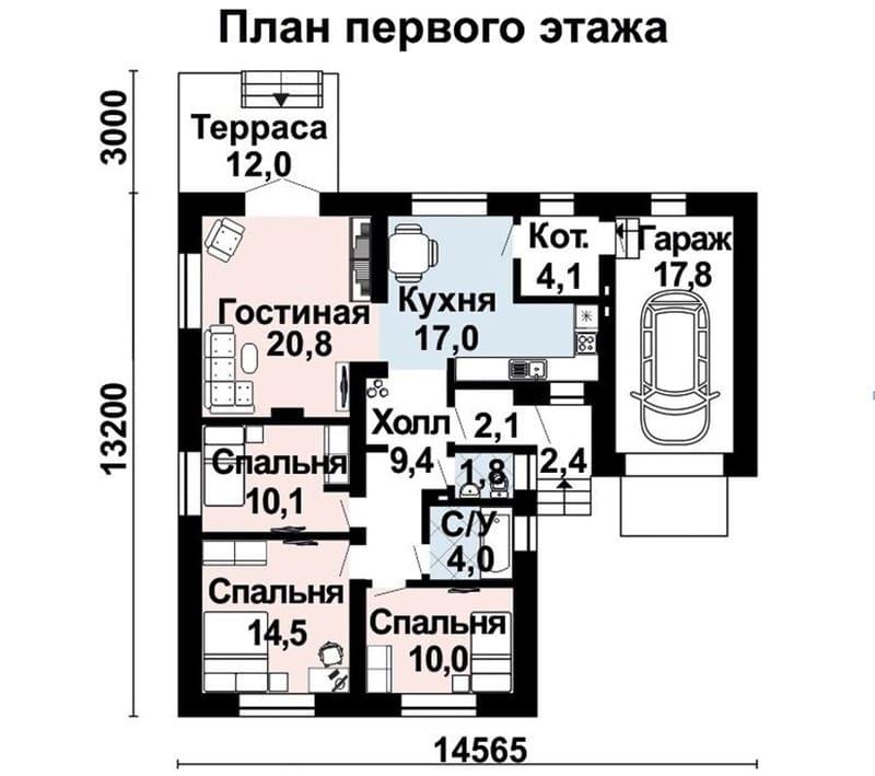 Идеальная планировка для одноэтажного дома