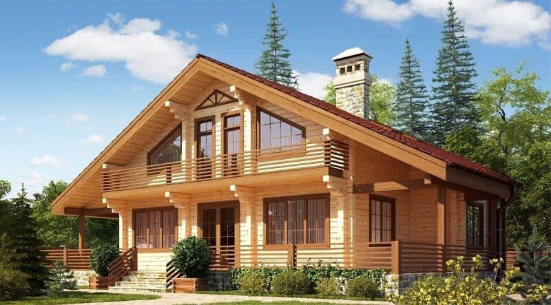 двухэтажный дом 6 на 8 из бруса