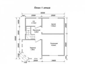 Каркасный дом 6 на 6