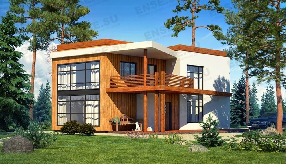 плоский дом (двухэтажный)