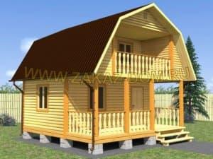 Проекты каркасных домов с мансардой