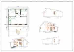 Проекты одноэтажных каркасных домов