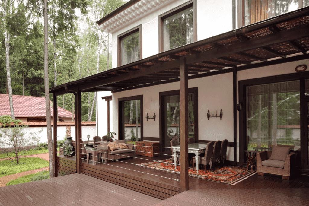 Дизайн террасы частного дома своими руками фото 41