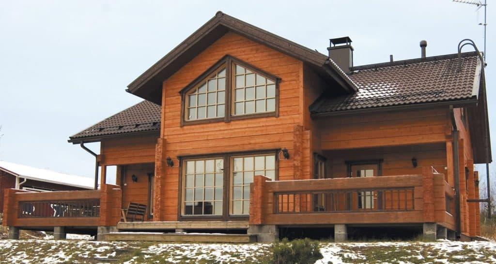 дома из профилированного сухого бруса