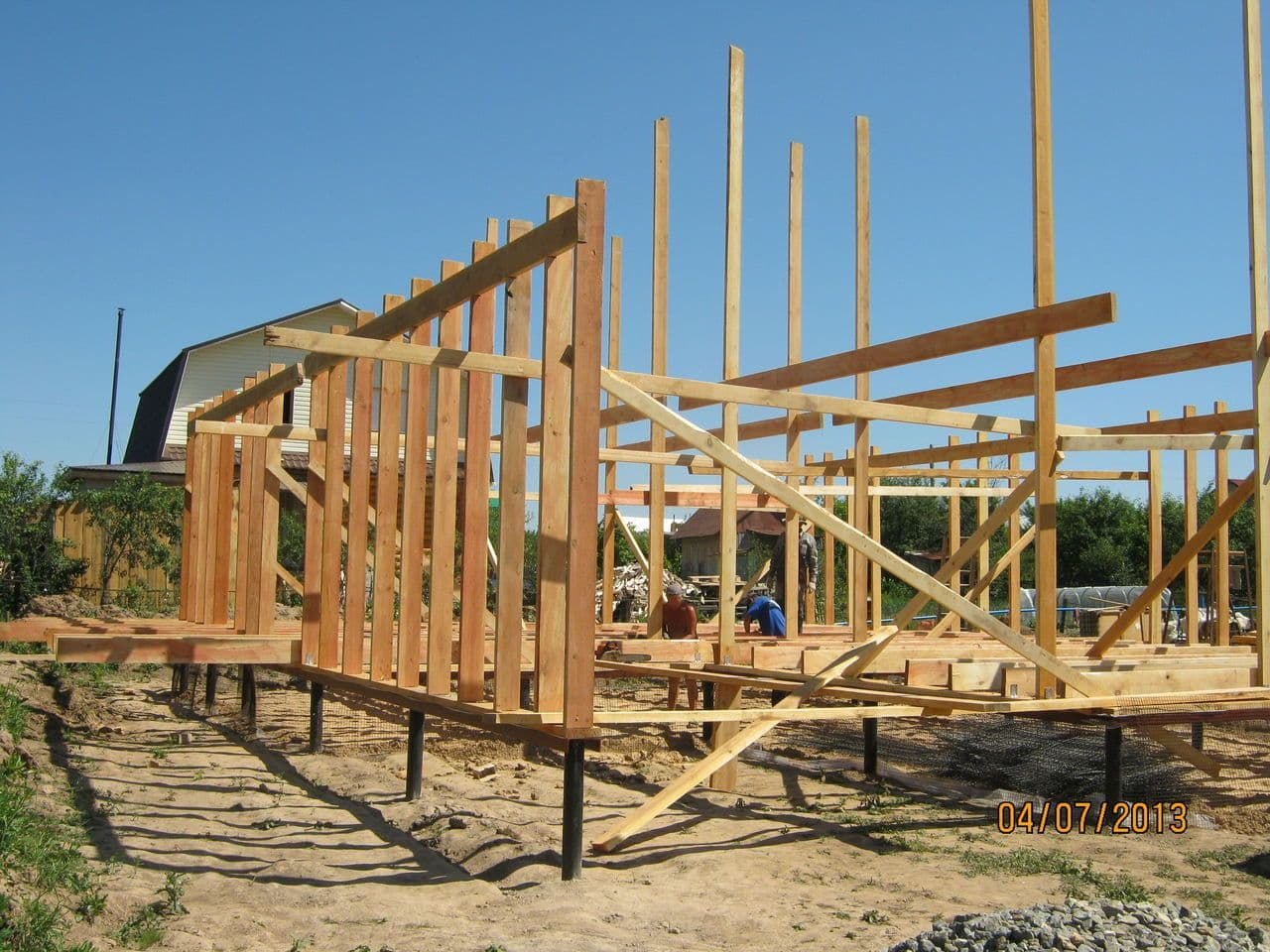 как построить каркасный дом