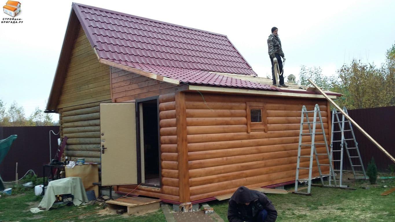 Как сделать крышу веранды с баней