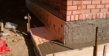 как утеплить фундамент дома пеноплексом своими руками