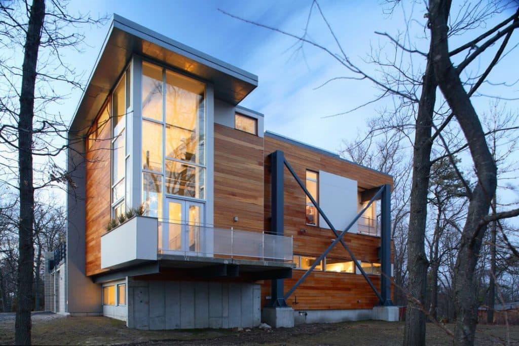каркасные дома в стиле хай тек