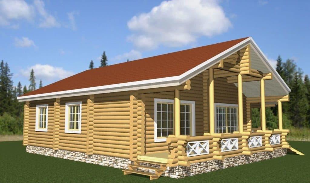 Каркасный дом 1 этаж для семьи из 3-5 человек