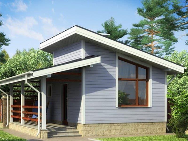 Недорогой одноэтажный дачный домик