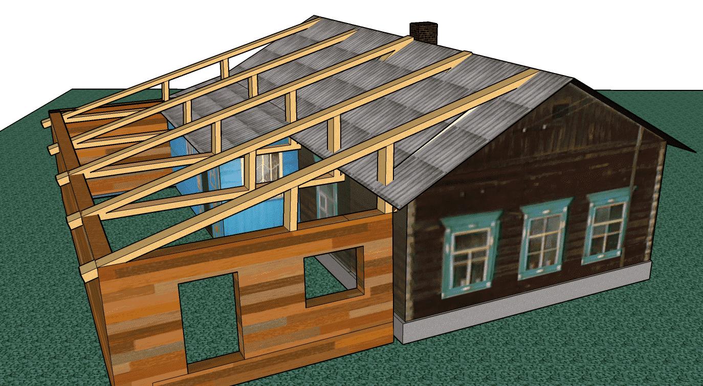 Крыша пристройка своими руками фото 229