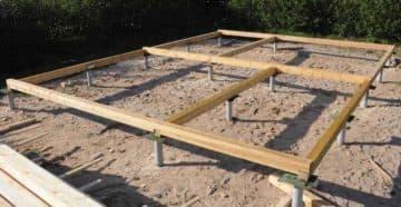 свайный фундамент для каркасного дома