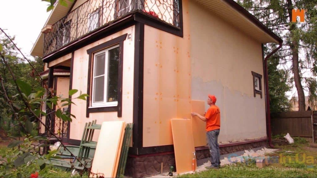 утепление каркасного дома пеноплексом