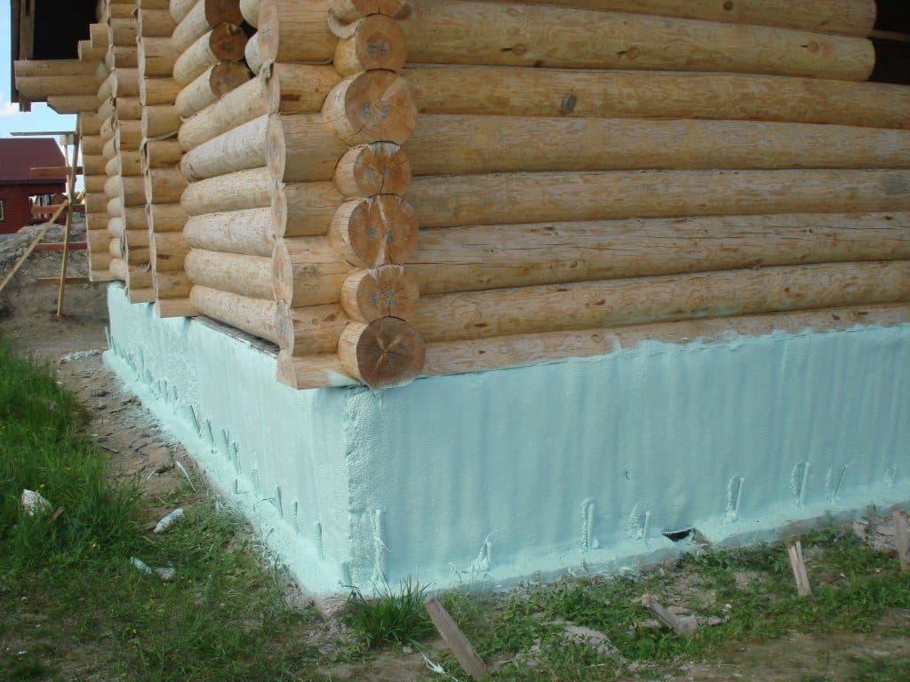 Утепленный фундамент для дома из бруса