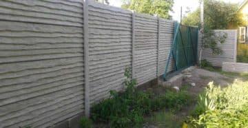 забор бетонный секционный
