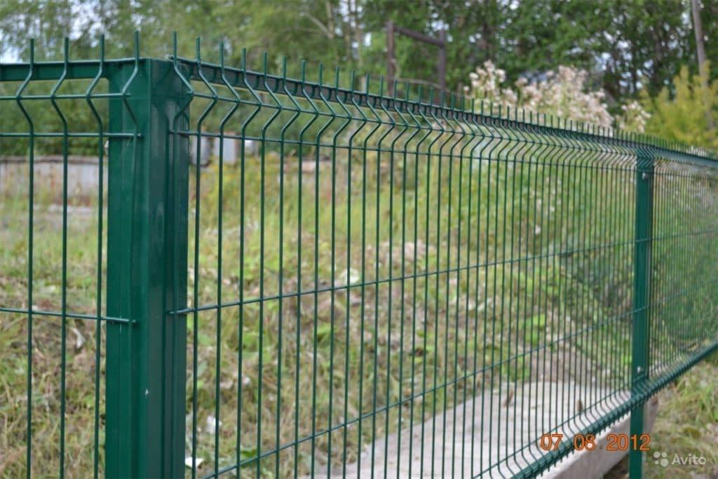 забор из металлической сетки